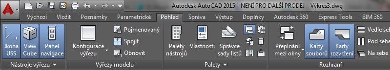 AutoCAD 2015 - Karta Pohled