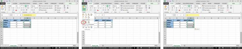 Postup při odstraňování vzorců vMicrosoft Excel