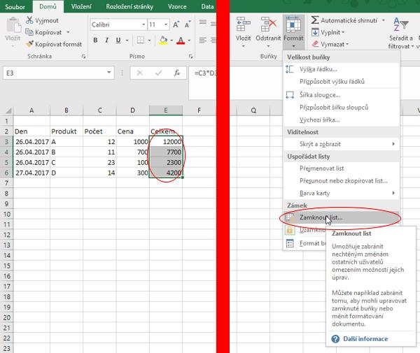 Skrytí vzorce vMicrosoft Excel